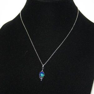 Beautiful silver arctic gems vintage necklace